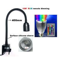 RGB Remote Dimmable LED Aquarium light grow light led clamp lamp for Marine Fish Corar Reef Plant Algae