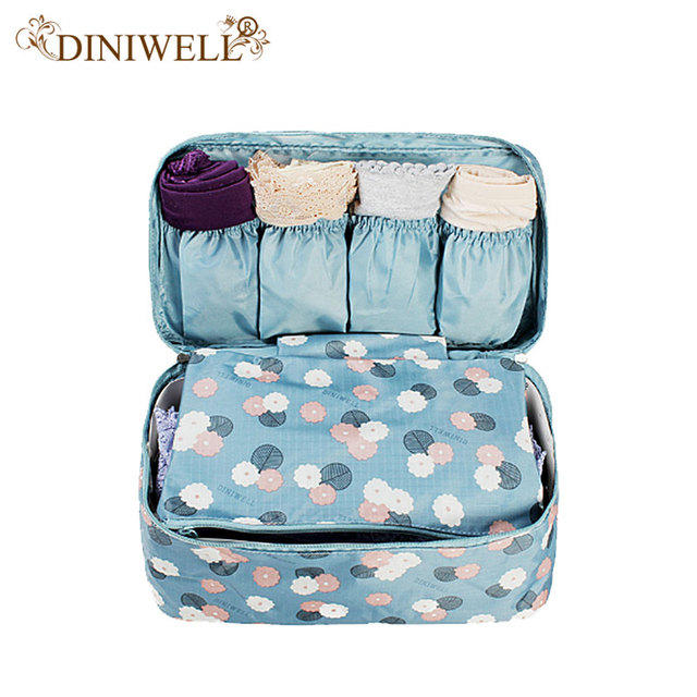 DINIWELL Portable Plus Size Travel Drawer Dividers Closet Organizers Bra  Underwear Storage Bag Container For Women