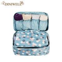 Portable Plus Size Travel Drawer Dividers Closet Organizers Bra Underwear Storage Bag Container For Women