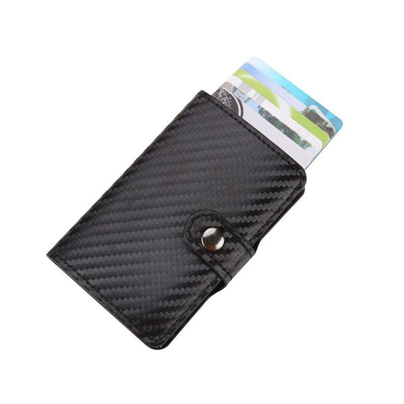 Fashion Creative Sliding Hand-push Pop Up Card Bag Business ID Credit Cards Holder Walle ...