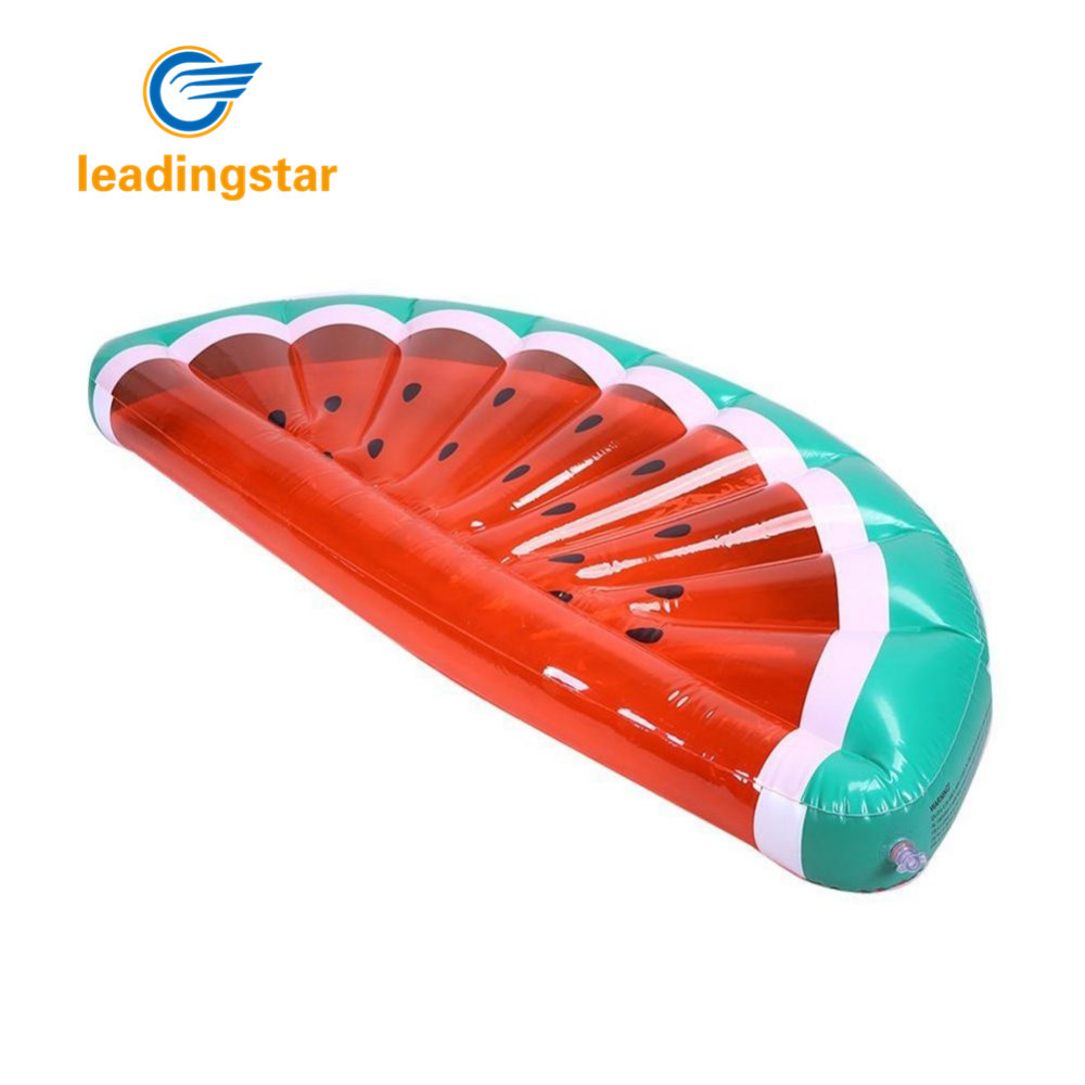 LeadingStar Inflatable Floating Row Creative Half Watermelon Shaped Air Sofa Bed Recliner for Beach Swimming Pool Seaside zk 30 environmentally friendly pvc inflatable shell water floating row of a variety of swimming pearl shell swimming ring