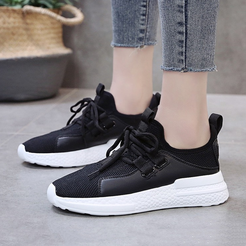 Women Casual Shoes Black White Mesh Breathable Sneakers For Ladies Shoes Comfortable Womens Vulcanized Shoes 3313wWomen Casual Shoes Black White Mesh Breathable Sneakers For Ladies Shoes Comfortable Womens Vulcanized Shoes 3313w