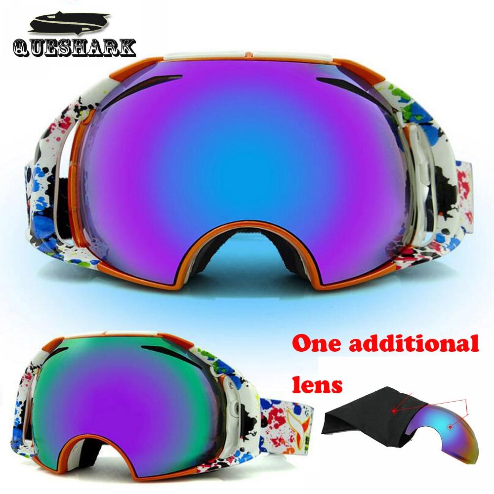 Hombres Mujeres Gafas de Esquí 2 Lente Doble Capa Anti-vaho gafas de Esquí Escal