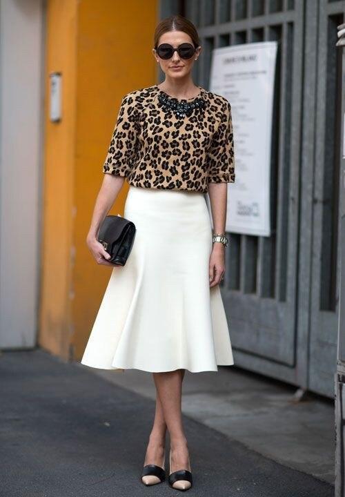 Online Shop Perfect Ivory Skirts Women Mid Calf Length Skirt A ...