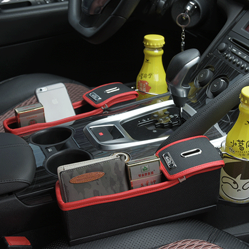 Car Seat Crevice Storage Box Cup Drink Holder Organizer Auto Gap Pocket Stowing Tidying For Phone Pad Card Coin Case Accessories ...