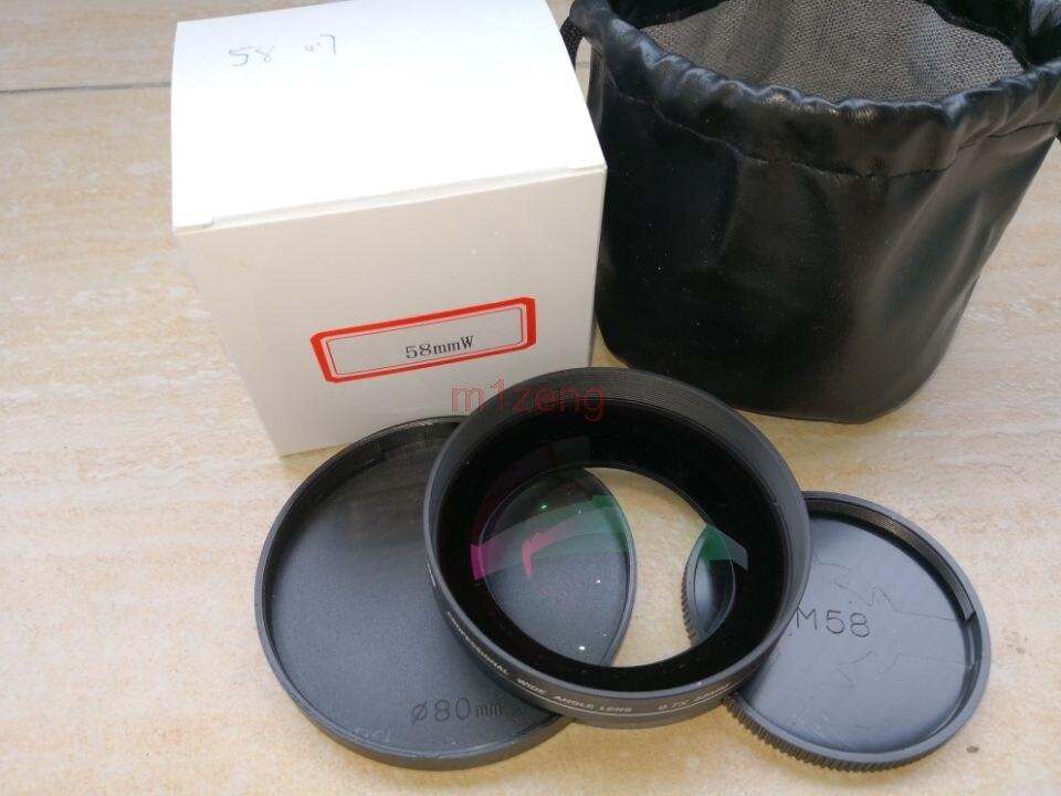 58mm 0.7x PRO OBIETTIVO Grandangolare per 58mm canon 18-55mm 60d 80d 600d 700d 550d 500d 750d 760d nikon pentax camera