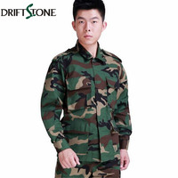 New BDU Military Tactical Army Clothing Set, Tactical Camouflage Paintball Uniform, Combat Coat and Pants