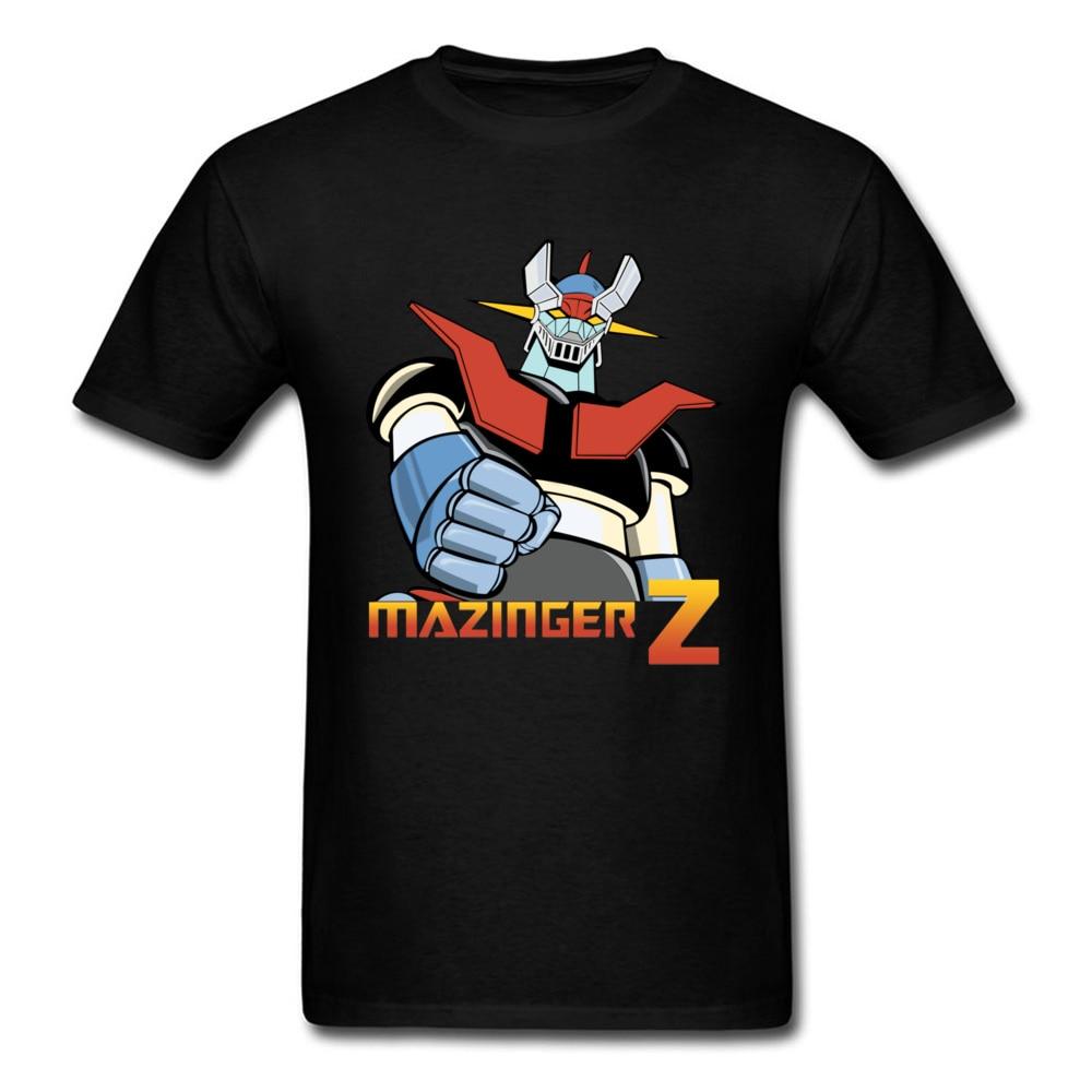 Anime Mazinger Z T-shirt Men T Shirt Fashion Black Tops Warrior Lover Clothing Robot Tees Japan Classic Anime Tshirt