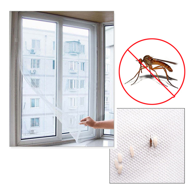 US $1 51 12% OFF|DIY window screen Summer Anti Mosquito Net Self adhesive  Flyscreen Curtain window mosquito net Glass fiber gauze screens -in  Curtains
