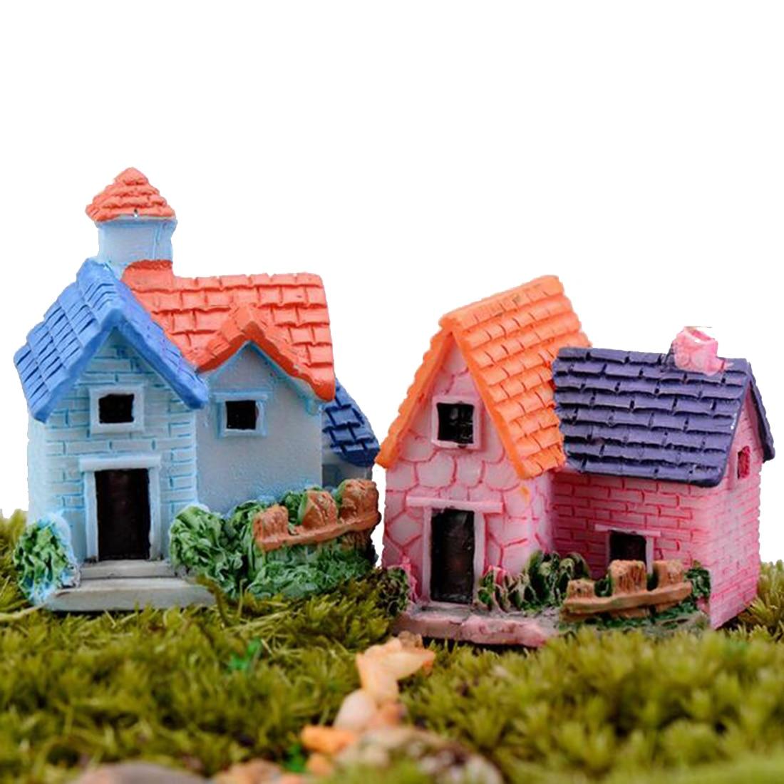 Mini Stone Steps Thatched cottage  Ornament Plant Pot  Fairy Garden Decoration