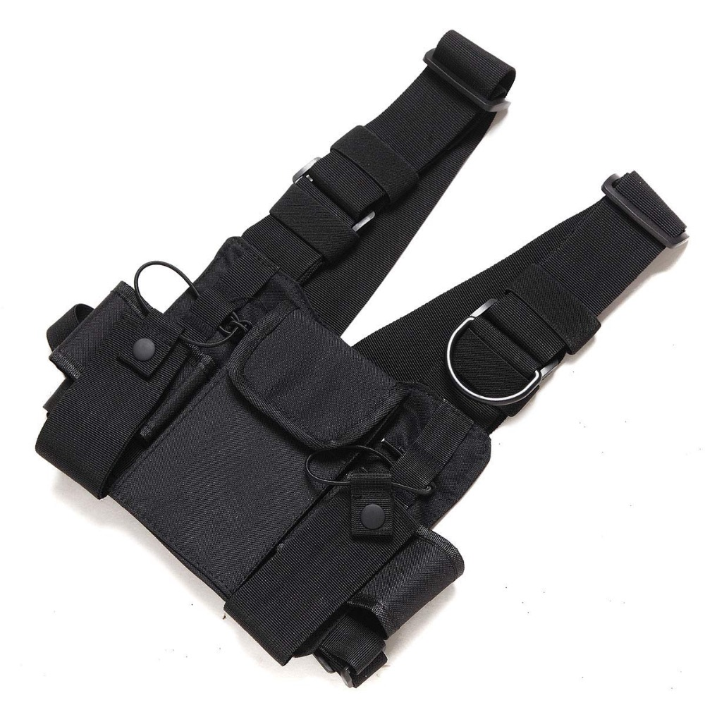 Chest Harness Front Pack Pouch Holster Vest Rig Carry For Two. Chest Harness Front Pack Pouch Holster Vest Rig Carry For Two Way Radio Baofeng Uv5r. Wiring. Leather Harness Radio Holster At Scoala.co