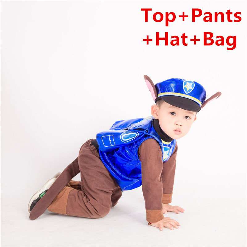 Anime Dog Cheas Cosplay Costume Call Wang Wang Team Pants Suits Children Kid Patrol Dog Cartoon Party Clothes Boy Girl Clothing