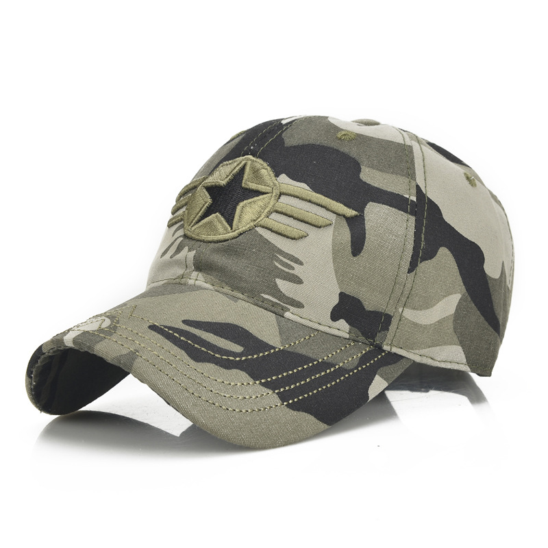 Outdoor hat men mountaineering summer outing baseball camouflage cap spring and autumn leisure sports pure cotton sunshade cap