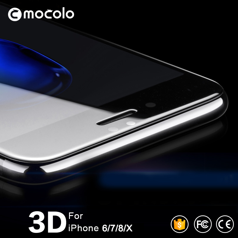 Mocolo 3D Curved Premium Glass For IPhone 7 Full Cover Screen Protector For IPhone 8 Tempered Glass Film For IPhone X For 6 6s