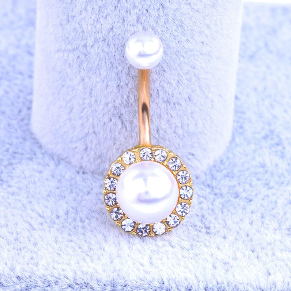 HTB1E4JFRFXXXXXmapXXq6xXFXXXx Elegant Pearl Button Ball Belly Button Ring Jewelry - 3 Styles