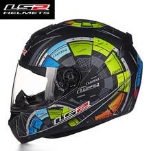 Casco de Moto LS2 FF352 de cara completa, diseño de moda, homologado por ECE DOT, para Moto