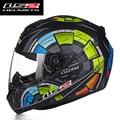 Nova chegada ls2 ff352 projeto da forma do capacete da motocicleta rosto cheio de corrida capacetes dot ece aprovado capacete casco casque moto