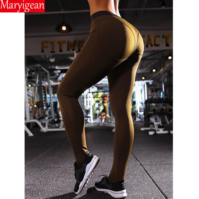 Maryigean Leggings High Quality Low Waist Push Up Elastic Casual Leggings Fitness for Women Sexy Pants Bodybuilding Clothing 6