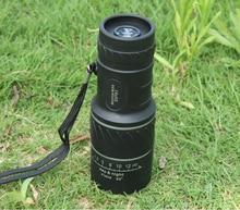 Al aire libre de alta calidad 16 x 52 óptica monocular con Zoom lente telescópica de la caza lentes de doble foco lente óptica día alcance prismáticos