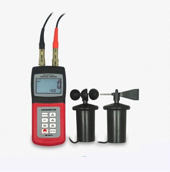 Анемометр Поток воздуха измеритель скорости ветра датчик направления чашки C F Beaufort