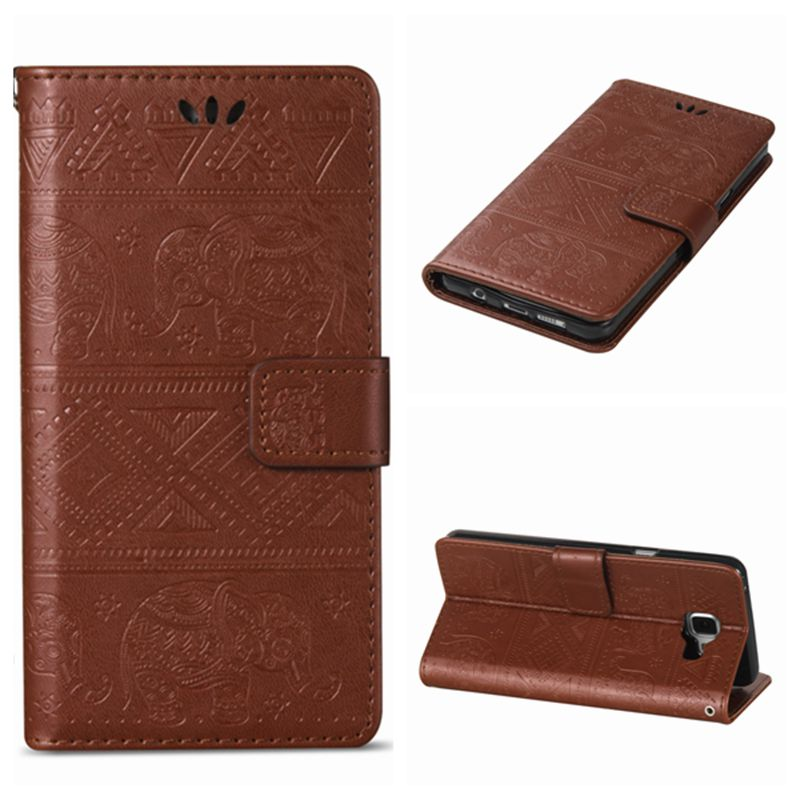 For Samsung Galaxy A3 A5 2015 / A3 A5 2016 Wallet <font><b>Case</b></font> Cover Luxury Embossed <font><b>Elephant</b></font> Flip PU Leather Stand <font><b>Phone</b></font> <font><b>Case</b></font> Cover