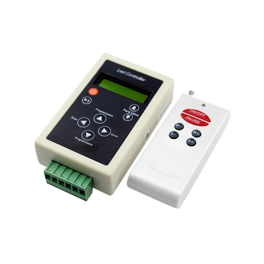dc5-24v LPD8806 ws2801 ws2811 ws2812 ws2812bリモコン付きリモコンrfリモコン2048ピクセル83プログラム