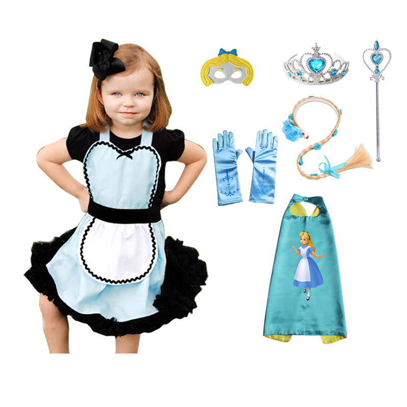Alice In Wonderland Costume Anime Carnaval Kostuums Birthday Party Original Cosplay Dress Up for Girls Princess Outfits