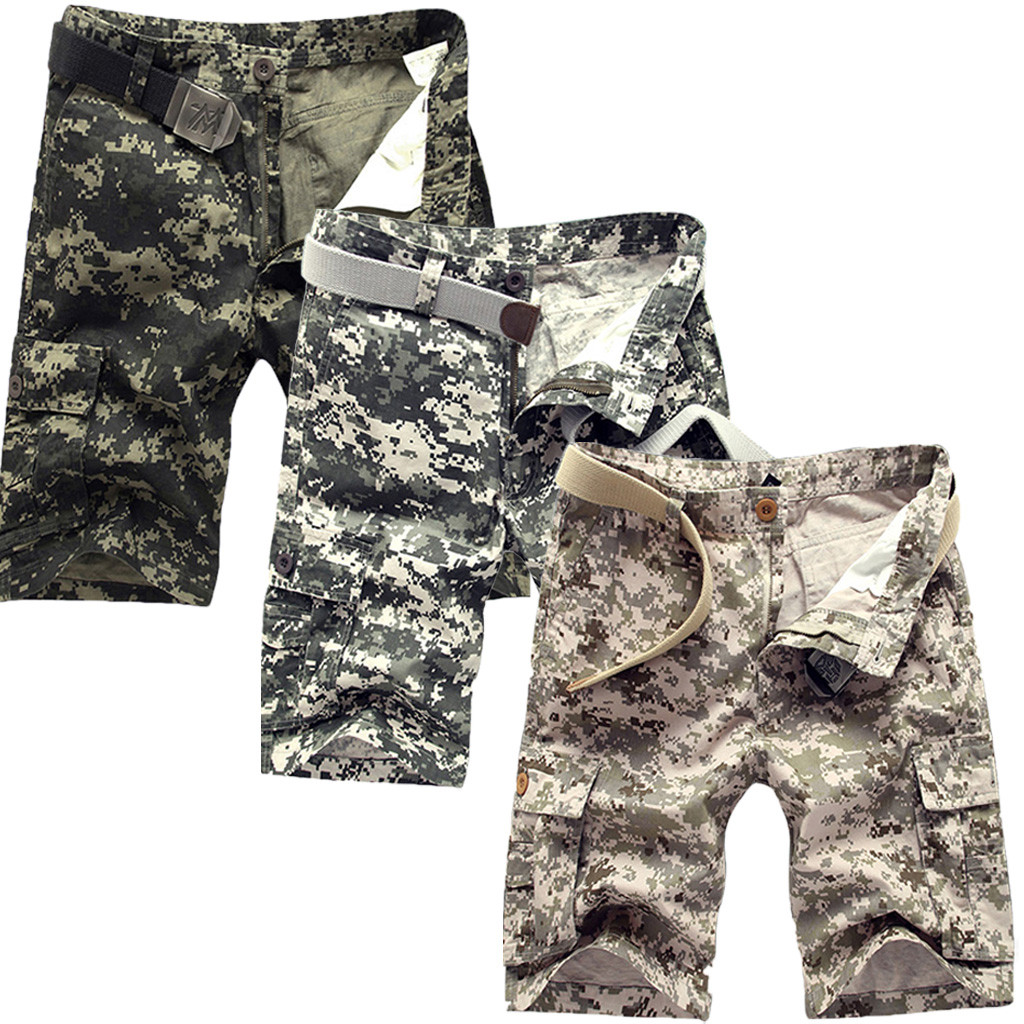 2019 New Arrival Summer New European American Mens Camouflage Shorts With Multi-pocket Overalls Casual Novelty MUQGEW