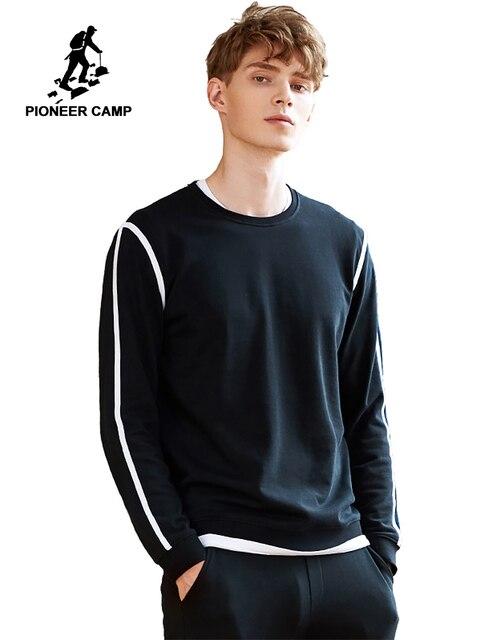 Pioneer Camp เสื้อผู้ชายที่มีชื่อเสียงยี่ห้อเสื้อผ้าแฟชั่น hoodies ชายคุณภาพสูงสบายๆ tracksuit ฤดูใบไม้ผลิฤดูใบไม้ร่วง AWY702315