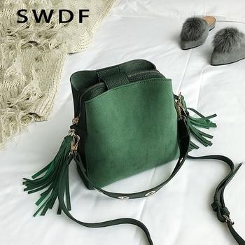 08389f2ab SWDF 2019 marca borla bolso de hombro Vintage mujer bandolera bolsas para  las mujeres 2019 bolso bolsos diseñador exfoliante diario Sac