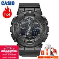 CASIO часы мужские | Модные камуфляжные водонепроницаемый смолы спортивные мужские часы GA 100CF 1A GA 100CF 8A GA 100CB 1A GA 100C 8A GA 100CF 1A9