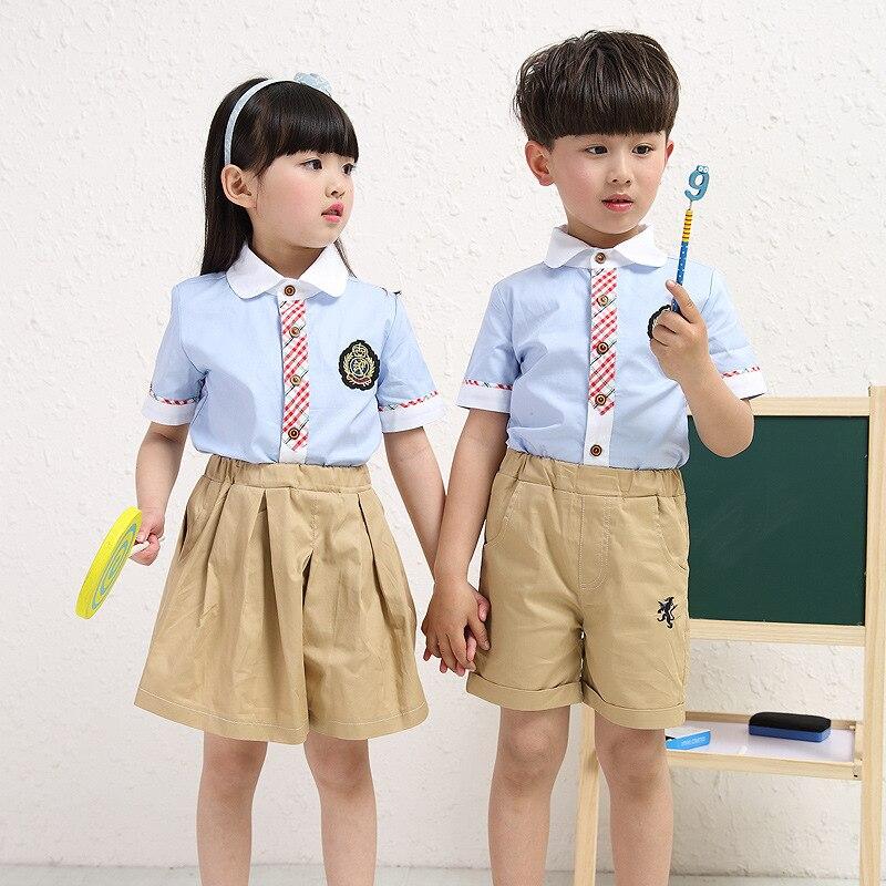 2017 boys summer and autumn new style school uniforms school uniforms girls dress002