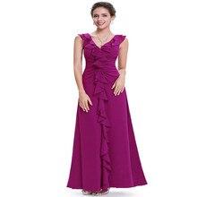 La nueva moda Con Cuello En V más el tamaño sin mangas de la colmena del vestido formal del banquete del vestido lleno de una sola pieza del vestido del envío libre
