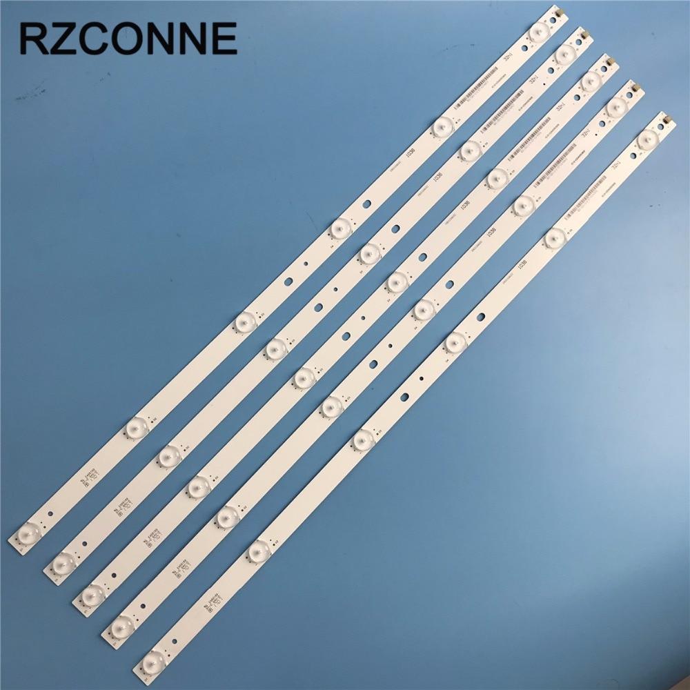 575mm 6leds LED Backlight Lamps Strip Kit Board W/ Optical Lens Fliter For 32inch LCD LED TV Billboard 10pcs