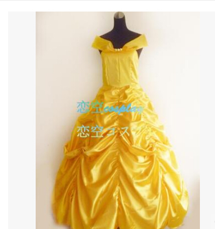 beauty and the beast costume cosplay halloween costumes for women dress custom