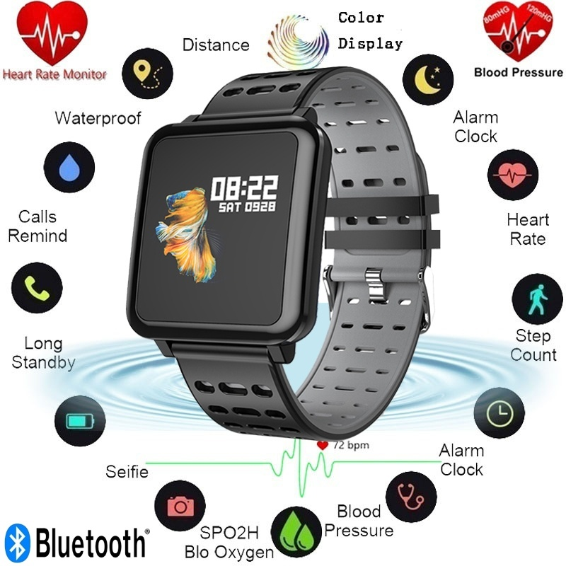 In Stil; Teamyo Smart Armband Smartwatch Herz Rate Blutdruck Sauerstoff Monitor Smartwatch Outdoor Sport Bluetooth Smart Armband Modischer