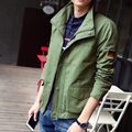 New 2016 autumn military style fashion german flag embroidery single-breasted jacket men chaqueta hombre men's clothing /JK35