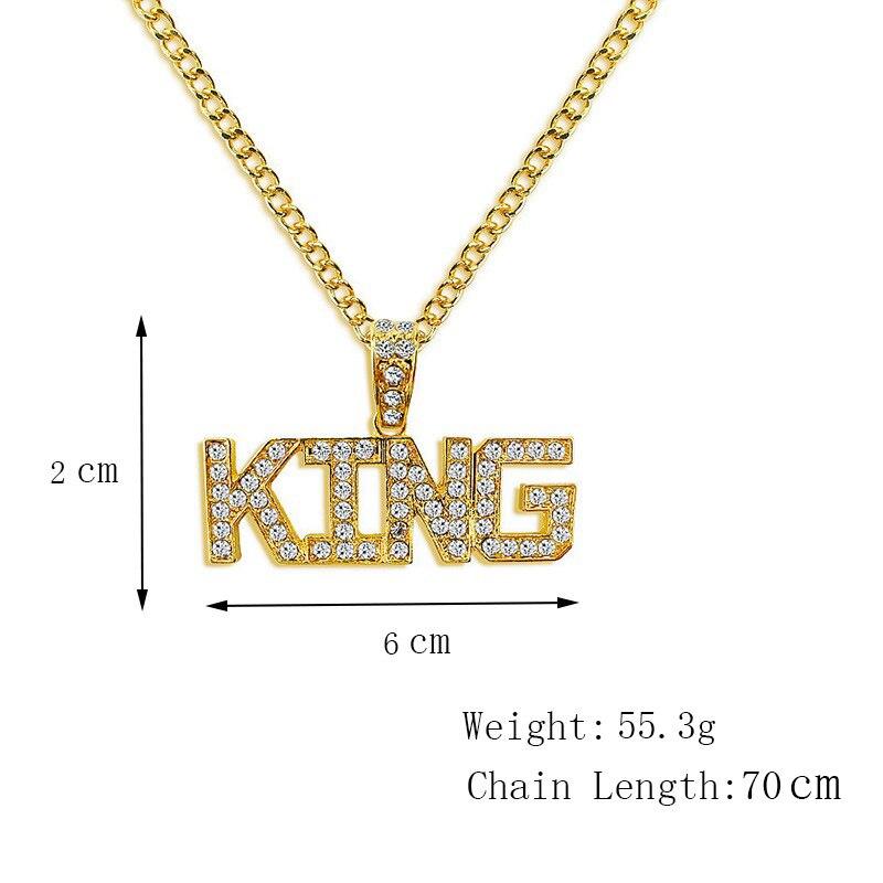 Хип-хоп ювелирные изделия Модные золотые длинные цепочки ожерелья для женщин и мужчин персонализированные буквы Орел молитвенный знак карта кулон ожерелье - Окраска металла: N003