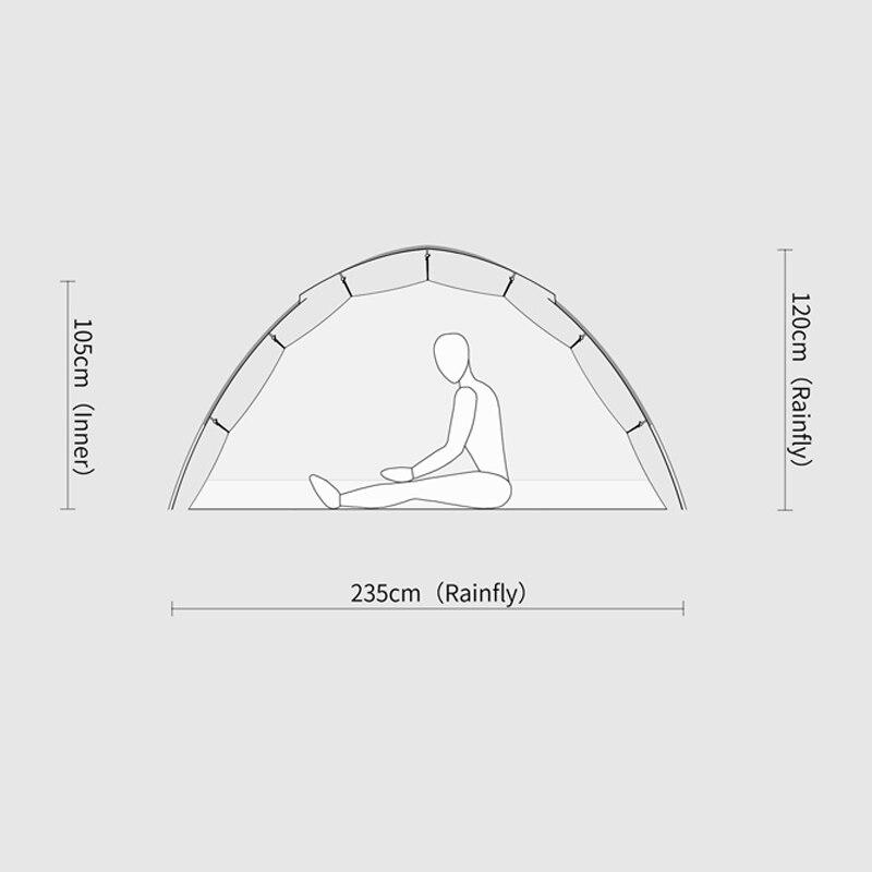 Стандартная Палатка Free Spirits TFS STARS2 (черная этикетка) Одностороннее силиконовое покрытие для 2 человек 3 сезона кемпинга - 3