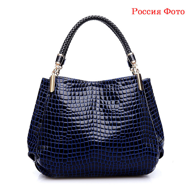 Women Bags 2017 Fashion Alligator Women Handbags High Quality PU Leather Women Shoulder Bags Luxury Casual Ladies Tote Bag