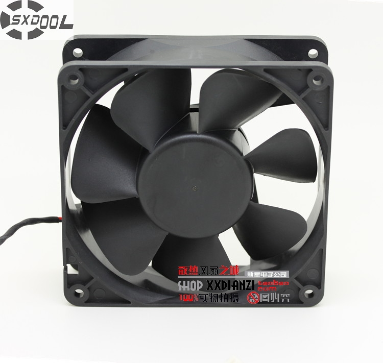 SXDOOL FD241238EB 12038 12cm 24V 0.52A Dual ball bearing cooling fan 3000RPM 135CFM sxdool 380v cooling fan 12038 12cm 120mm 0 04a double ball bearing server inverter pc case cooling fan