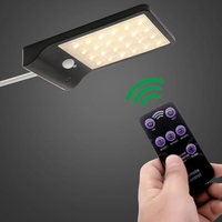 48 LEDs LED Ultra thin Solar Power Wall Light with Rod for Outdoor Lights Waterproof Wall Lamp