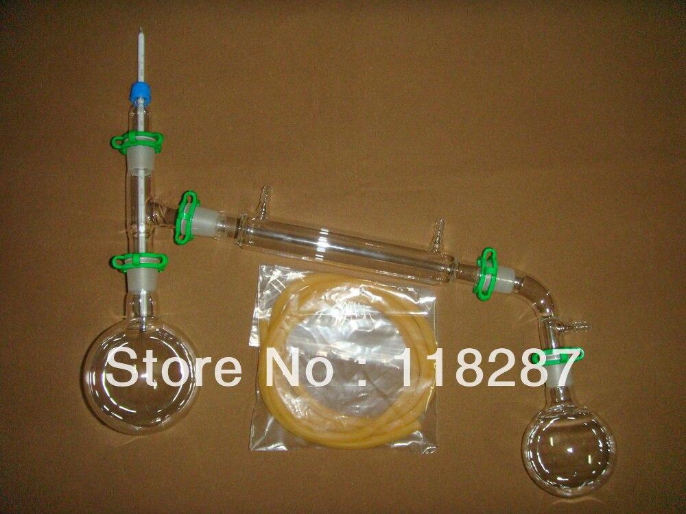 Новый аппарат для дистилляции 500 мл, комплект для вакуумной дистилляции, лабораторное стекло
