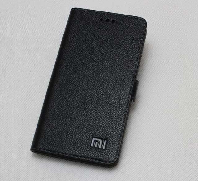 Veritable Pour Xiaomi Redmi Note 4 Housse En Cuir De Luxe Livre Flip Etui