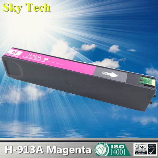 Magenta Pigment Ink Cartridge For HP913A Magenta , For HP PageWide 352dw 377dw Pro 452dw 452dn 452dwt 477dw MFP 477dwt 552dw