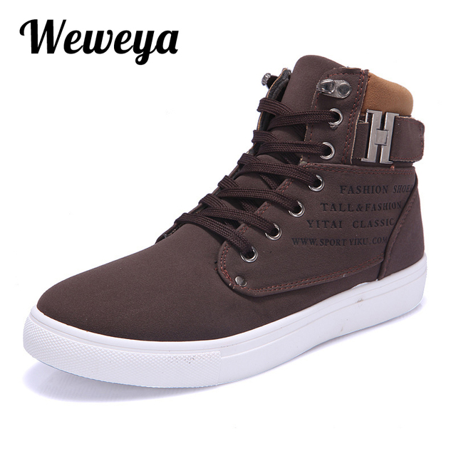7076e33eb6ef Weweya New 2018 Retro Style Mens Casual Shoes Spring Autumn Vintage Low  Boots High Top Men Shoes Plus Size 47 Casual Shoes Men