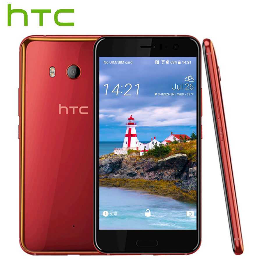 L'UE Version HTC U11 4g LTE Mobile Téléphone 2160 p Snapdragon 835 Octa Core IP67 4 gb RAM 64 gb ROM 5.5 Unique SIM Android Téléphone Intelligent