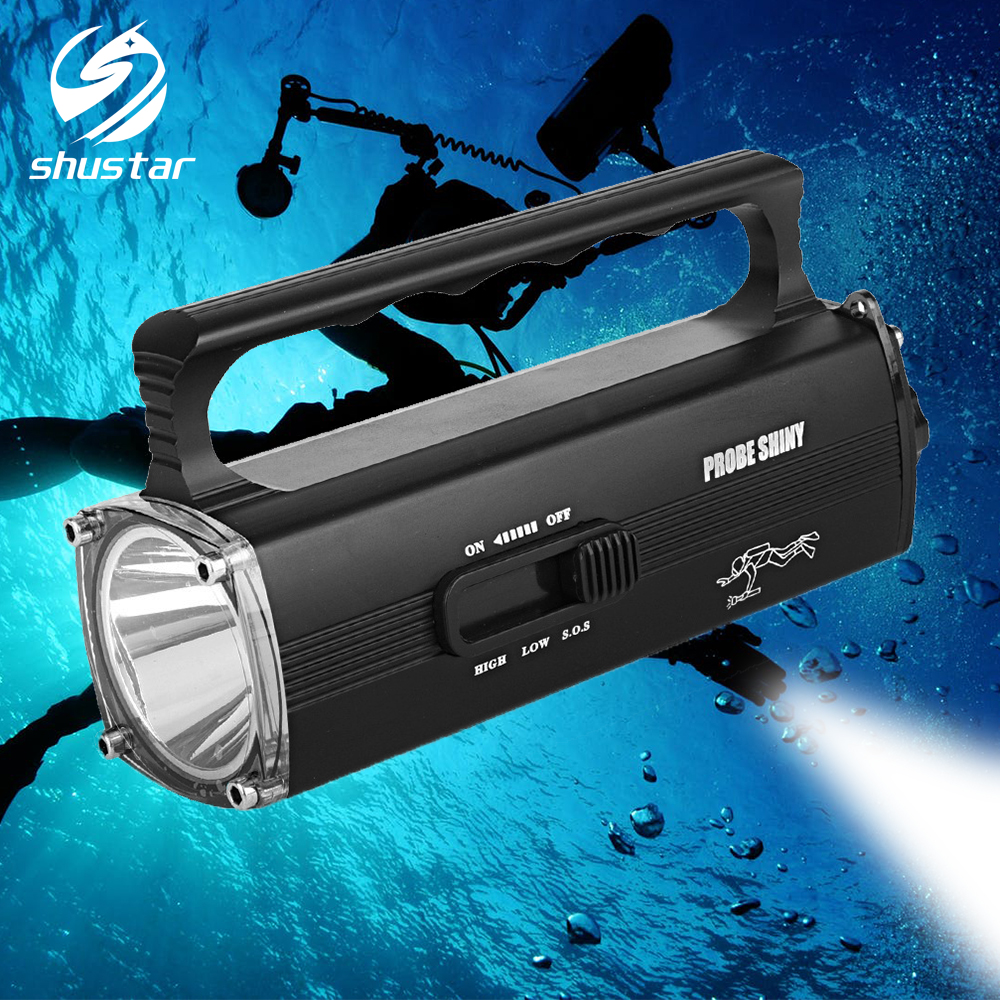 Rechargeable IPX8 Waterproof Diving Light Searchlight LED Flashlight Can Dive To The Bottom Of The Water 100 Meters