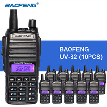10 unids/lote Baofeng UV-82 Walkie Talkie UHF VHF Portátil Walkie Talkie 5 W 2800 mAh Práctico radio de Dos Vías de Radio CB transceptor Comunicador