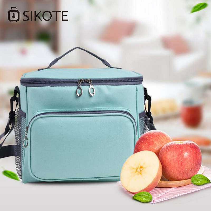 SIKOTE Outing Lunch Bags Picnic Friends Gathering Fresh Storage Portable Thermal Insulated Package Car Cooler Bag